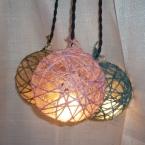 麻糸を巻いて作る簡単ライト