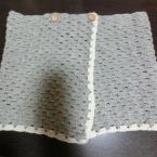 松編みのオーバースカート