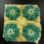 モチーフで編む鍋敷き