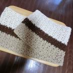 交差編みのマフラー