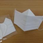 ティッシュとA4用紙で作る使い捨て立体マスク