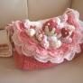 かぎ編み いちごのショートケーキ 通園バッグ