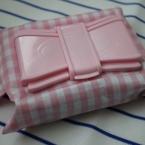 汗ふきシートケース ~ピンクりぼん~
