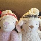 Twin's knitting cap