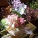 紫陽花の壁掛けバスケット