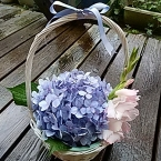 紫陽花のバスケット盛り  簡単