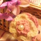 ふんわり♪お花のヘアゴム