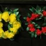 お花紙と紙テープで作れるハワイアン風リース