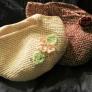 たこ糸で編む桜とバラのマルシェバック