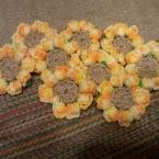 玉編みのひまわりモチーフ