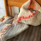 夏用毛糸で編める東袋風ポーチ