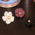 お花モチーフの指輪
