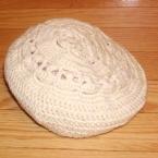 かぎ針編みのベレー帽