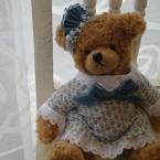 ソレイアードの布で作ったクマの洋服