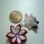 剣つまみと丸つまみで作る花と蝶々。