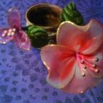 ストッキングで作るお花