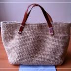 シンプルな麻ひもバッグ