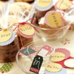 手作りお菓子ラップングに、オリジナルタグ☆