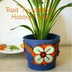 お花の鉢カバー