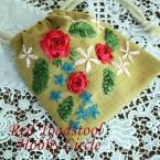 薔薇の巾着
