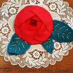 巻き薔薇の髪飾り