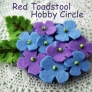 紫陽花のブローチ
