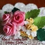 薔薇のバレッタ
