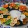 菜の花と蝶々のブローチ