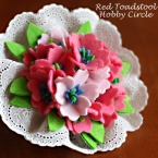 フェルトお花のブーケコサージュ