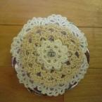 レース編みのコンパクトミラー
