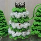 編みクリスマスツリー
