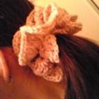 ボリュームシュシュ♪毛糸でかぎ針編み