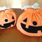 かぼちゃ巾着(裏地あり)★ハロウィンのお菓子入れに