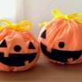 かぼちゃ巾着(裏地なし)☆ハロウィンのお菓子入れに