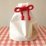 サンタのプレゼント袋(巾着タイプ)☆お弁当袋にも