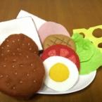 フェルトのサンドイッチ&ハンバーガー