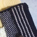アフガン編みのカイロ入れ