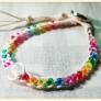 簡単!三つ編みブレス<レインボー>