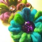 スラブヤーンのお花ヘアゴム