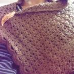 長編みで作る 温かさ抜群ショール