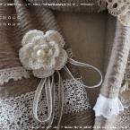 手編みのミニコサージュ♪ (編み図あり)