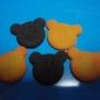 粘土でプレーン&ココアクッキー