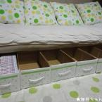 ダンボールでベッド下・コミック収納