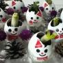 ★卵の殻で雪だるまのプチ植木鉢★