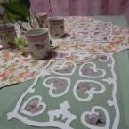 ★切り紙と押し花のラミネート・ランチマット★