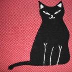 黒猫のブサかわいい二部式帯★真っ直ぐ縫うだけ