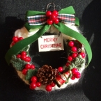 毛糸を作ったクリスマスリース