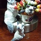 ドールハウス用猫フィギュア