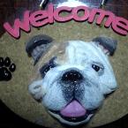 welcomeボード(ブルドックバージョン)