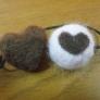 羊毛フェルト ハートのヘアゴム